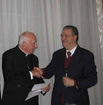 His eminence cardinal pio laghi patron of icoc the cardinal reads the letter of appointment as patron of icoc given by the presidentchairman altavistaventures Images